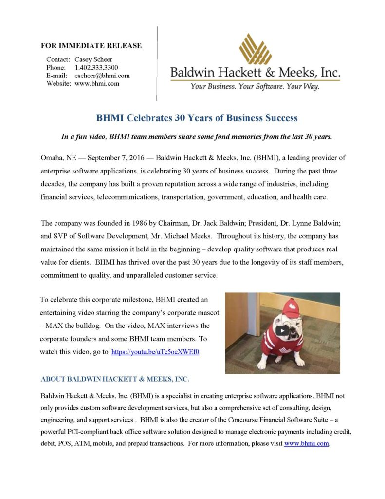 press releases Press Releases BHMI 2016 30 Year Anniversary 791x1024