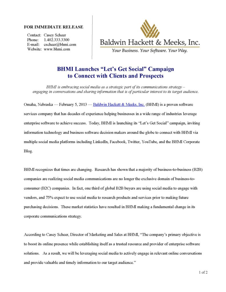 press releases Press Releases BHMI 2013 Lets Get Social Campaign Page 1 791x1024