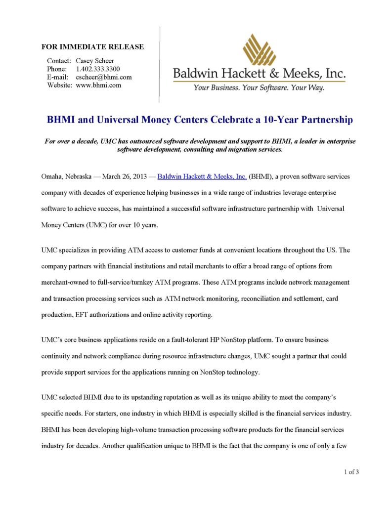 press releases Press Releases BHMI 2013 Universal Money Page 1 791x1024