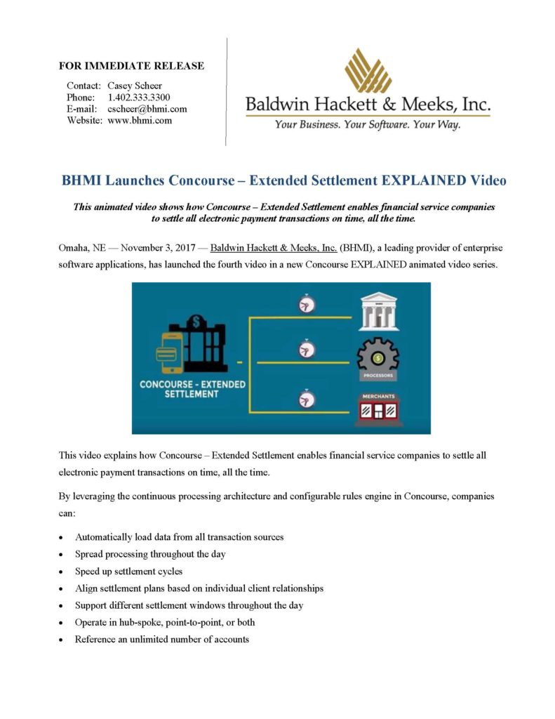 press releases Press Releases BHMI 2017 Concourse Extended Settlement Video Page 1 791x1024